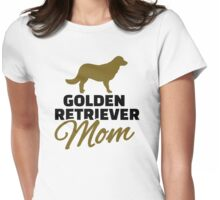 Golden Retriever Mom Womens Fitted T-Shirt