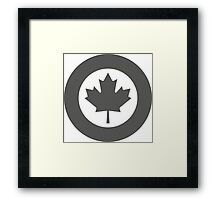 Low Visibility Roundel of the Royal Canadian Air Force  Framed Print