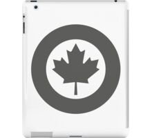 Low Visibility Roundel of the Royal Canadian Air Force  iPad Case/Skin