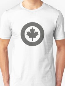 Low Visibility Roundel of the Royal Canadian Air Force  Unisex T-Shirt