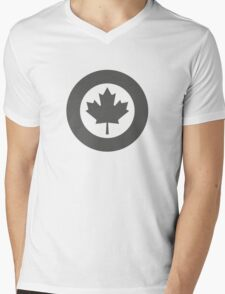 Low Visibility Roundel of the Royal Canadian Air Force  Mens V-Neck T-Shirt