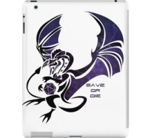 Save or Die - Black iPad Case/Skin
