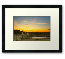 Country Sundown Framed Print