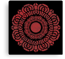 Red Lotus Logo  Canvas Print