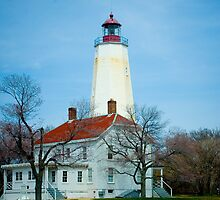 Sandy Hook Light House by Mary Campbell
