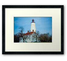 Sandy Hook Light House Framed Print