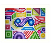 Colour Explosion 2 Art Print