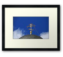 golden cross Framed Print