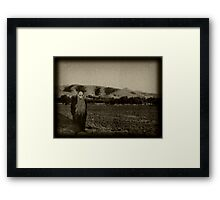 HE Waits Framed Print