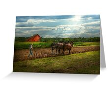 Country - Ringoes, NJ - Preparing for crops Greeting Card