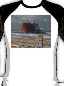 Pasha Bulker and sign, Newcastle, Australia 2007 T-Shirt