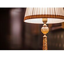 reading lamp with shade Photographic Print