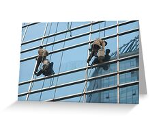 Glass cleaners Greeting Card