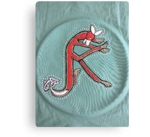 Celtic Fox Letter K - Embroidery Canvas Print