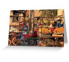 Fruitshop Greeting Card