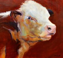 Fillion, ( cow ) from original oil painting by Madeleine Kelly by Madeleine Kelly
