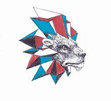 Geometric lion by Drakonspirit