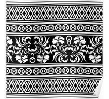 oriental pattern Poster