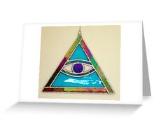 Stained Glass All Seeing Eye Greeting Card