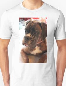 Christmas Day Portrait - Boxer Dogs Series T-Shirt