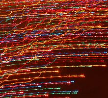 Hot Colored Streaks! by Jim  McDonald