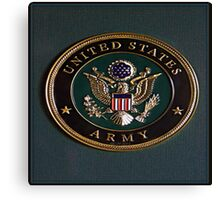 Army Dedication Canvas Print