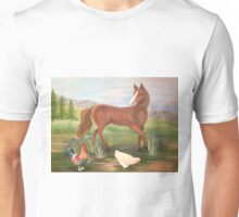 Horse and Hens Unisex T-Shirt