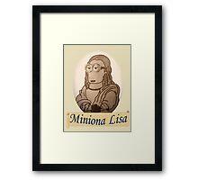 Miniona Lisa Framed Print