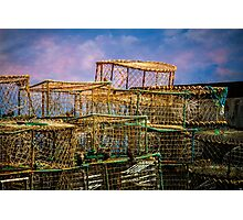 Lobster Baskets and Starlings Photographic Print