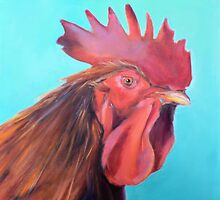 Reagan the Rooster, from original oil painting by Madeleine Kelly by MadeleineKelly