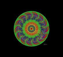 sdd Circle Fractal Mandala 3H by mandalafractal