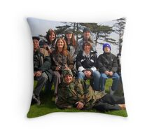 welsh bubblers on meet at margam park red bubble meet port talbot Throw Pillow