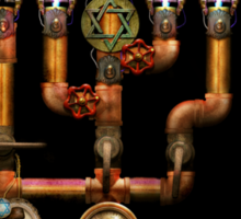 Steampunk - Plumbing - Lighting the Menorah Sticker