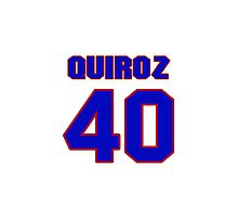 National baseball player Guillermo Quiroz jersey 40 Photographic Print