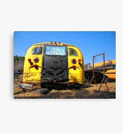 Back of the bus Canvas Print
