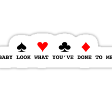 One Direction Stockholm Syndrome Card Suit  Sticker