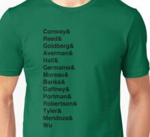 Mighty Ducks Roster Unisex T-Shirt