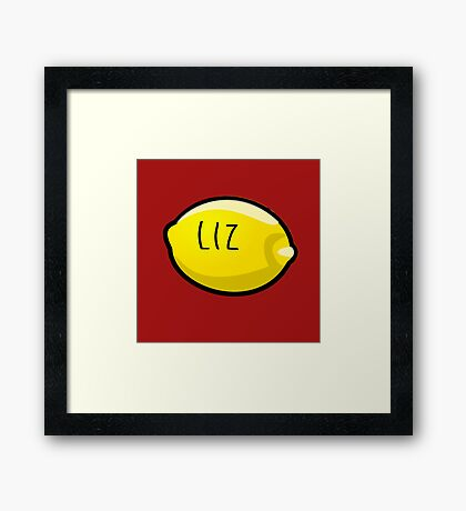 Liz Lemon the Lemon Framed Print
