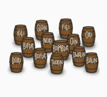 Dwarves in barrels from The Hobbit Kids Clothes