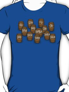 Dwarves in barrels from The Hobbit T-Shirt