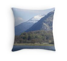 View of Snowdon Throw Pillow