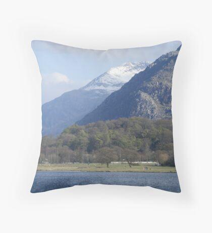 View of Snowdon Throw Pillow