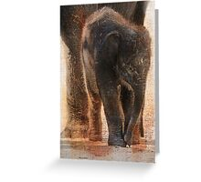 Vintage Asian Baby Elephant Greeting Card