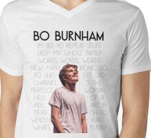 Bo Burnham Song titles Mens V-Neck T-Shirt
