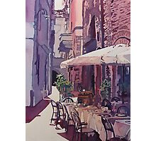 Lucca Cafe Photographic Print