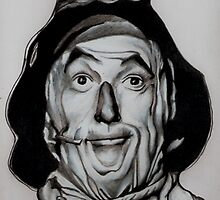 Wizard of Oz scarecrow drawing by RobCrandall