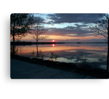 (。◕‿◕。) Sunset In God's Country( GODS PAINTING) (。◕‿◕。)  Canvas Print