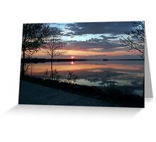 (。◕‿◕。) Sunset In God's Country( GODS PAINTING) (。◕‿◕。)  Greeting Card