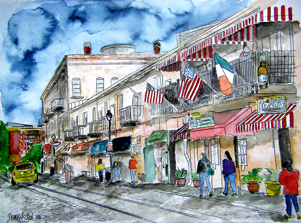 Savannah Georgia River Street by derekmccrea