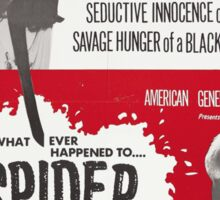 Spider Baby Poster Artwork Sticker